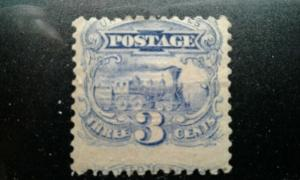 US #114 mint hinged shows part of next stamp e195.4200