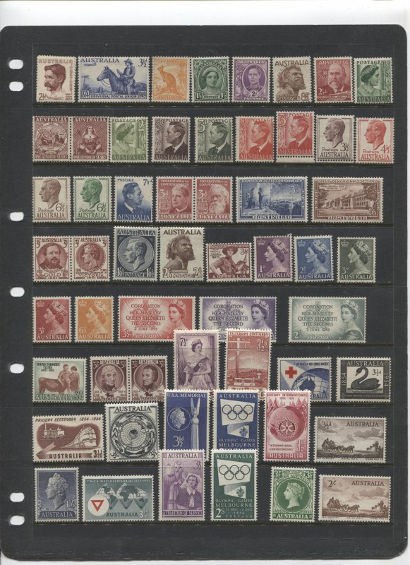 STAMP STATION PERTH Australia #Selection of 56 Mint Stamps