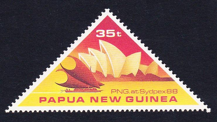 Papua NG Sydpex Philatelic Exhibition Triangle stamp 1v SG#575 SC#696 MI#571