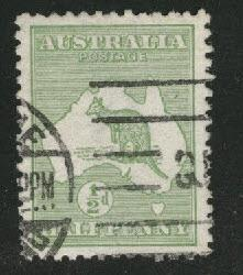 Australia Scott 1 Used Kangaroo & Map 1913