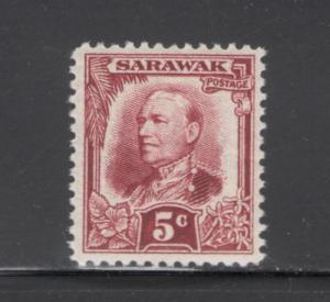 Sarawak 1932 Sir Charles Vyner Brooke 5c Scott # 98 MH