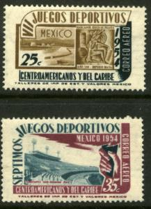 MEXICO C222-C223, 7th Cent American & Caribbean Games. MINT, NH. F-VF.