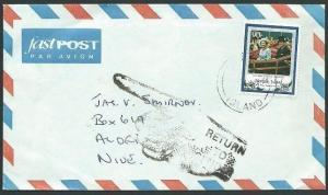NORFOLK IS 1995 cover to NIUE, returned to sender..........................42660