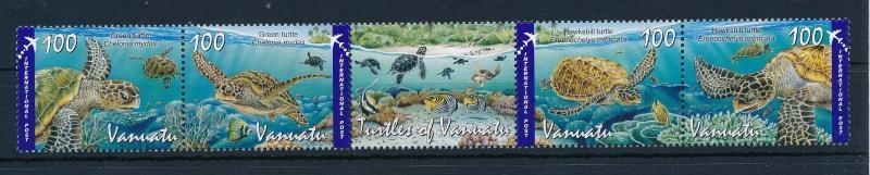 [39196] Vanuatu 2011 Marine Life Sea turtles MNH