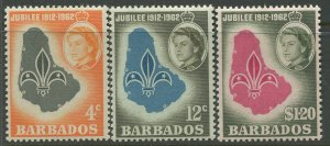 STAMP STATION PERTH Barbados #254-256 General Issue MVLH CV$4.50