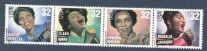 3216-19 Gospel Singers Strip Of 4 Mint/nh FREE SHIPPING