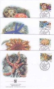 BIOT 4-FDC'S 231-4 Starfish WWF 2001
