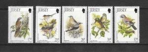 BIRDS - JERSEY #646-50   MNH