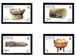 Hong Kong 744-47 MNH 1996 Archaeological Finds