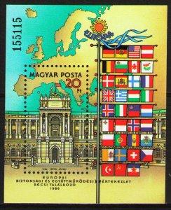 Hungary MNH S/S 3005 Hofburg Palace Vienna 1986