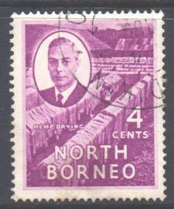 North Borneo Scott 247 - SG359, 1950 George VI 4c used