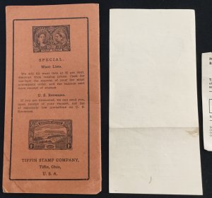 Tiffin Stamp Company Price List No 5 circa 1905 9 pages