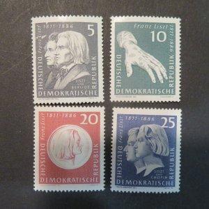Germany  DDR 570-573 mint NH, OG 1961  Cv.$4.10