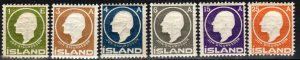 Iceland #86-91  F-VF Unused CV $63.75 (X2176)