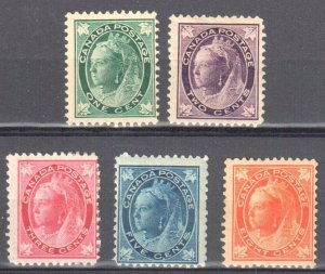 Canada #67 to 70, 72 Mint LH C$500.00
