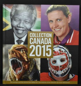 CANADA 2015 Stamp Yearbook USA delivery only.