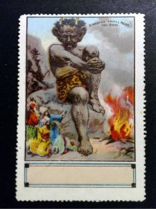 German Poster Stamp - 1001 Nights - Sinbads & the Giant