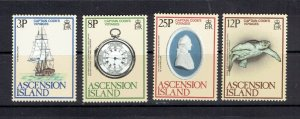 ASCENSION ISLAND - 1979 COOK'S VOYAGES - SCOTT 235 TO 238 - MNH