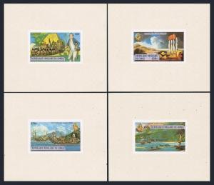 Congo PR 489-492 deluxe sheets,MNH.Michel A670-A673. James Cook/Hawaii-200.Ships
