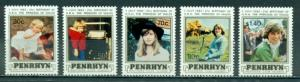 Penrhyn Island #190-194  MNH  Scott $7.75