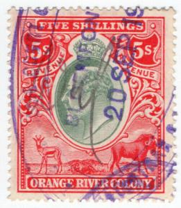 (I.B) Orange River Colony Revenue : Duty Stamp 5/-
