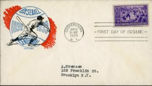 #855-41 FIRST DAY COVER BY TORKEL GUNDEL CACHET BN1042