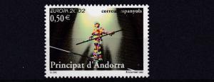 SPANISH ANDORRA      2002  EUROPA  CIRCUS        MNH