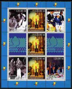 Turkmenistan 2000 Bangkok Stamp Exhibition perf sheetlet ...