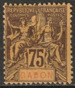 Gabon 1904 Sc 29 Yt 29 MH* disturbed gum