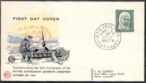 Australian Antarctic Territory  FDC Polar Expedition 1961.