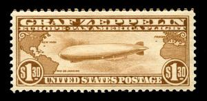 momen: US Stamps #C14 Zeppelin MNH OG PSE Graded XF-90