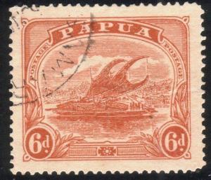 PAPUA 1911-15 6d SG89 fine used............................................88777