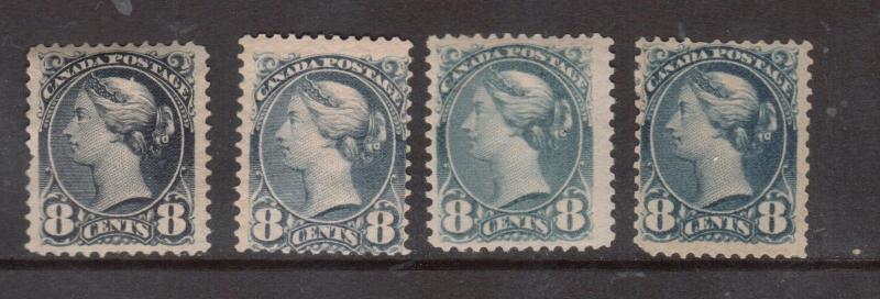 Canada #44 #44a #44b #44c Mint Scarce Shades Set