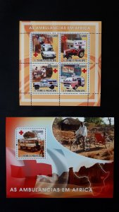 Ambulance (Africa) - Sao Tome and Principe 2008. - Complete SS + Bl ** MNH