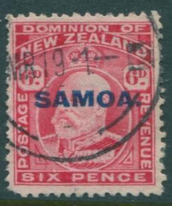 Samoa 1914 SG119 6d carmine KEVII SAMOA. ovpt FU