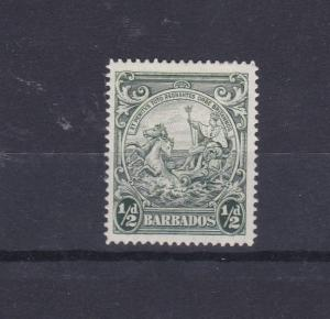 BARBADOS 1938 - 47  S G 248B  1/2D  GREEN  M H  CAT £70