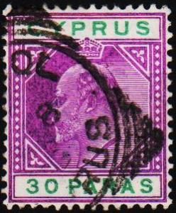 Cyprus. 1903 30pa S.G.51 Fine Used