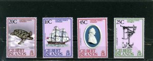 GILBERT ISLANDS 1979 SHIPS/CAPTAIN COOK'S VOYAGES SET OF 4 STAMPS MNH