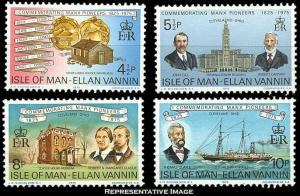 Isle Of Man MNH 62-5 Manx Settlers Ships