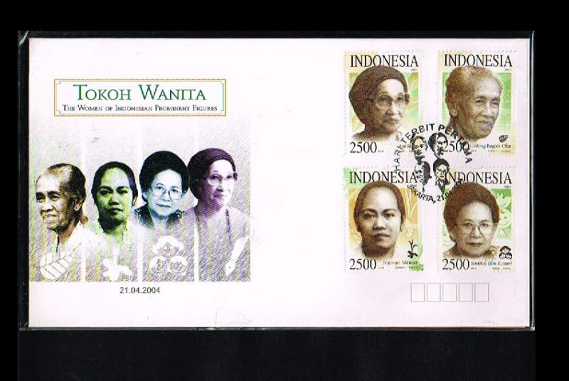 2004 - Indonesia FDC 05/04 - Famous People - Women [PB8_166]