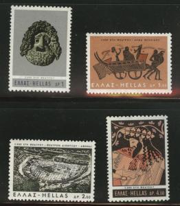 GREECE Scott 855-858 MH*  1966 stamp set
