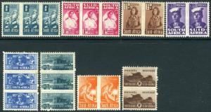 SOUTH AFRICA-1942-44 War Effort (Reduced Sizes) Set Sg 97-104 MOUNTED MINT