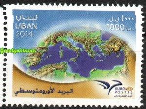 2014- Lebanon- Liban-  Euromed, Joint & common issue- Complete set 1v.MNH**