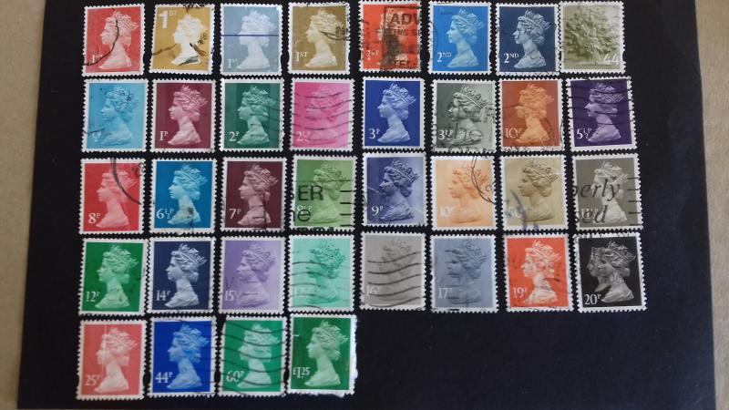 Great Britain Various Queen Elizabeth II used stamps