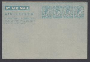 Ceylon H&G FG6 mint 1947 35c KGVI Aerogramme on Unwatermarked Paper, VF