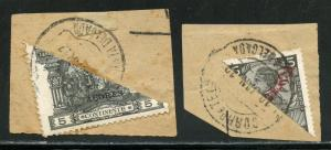 PORTUGAL  LOT   OF TWO  BISECTS  ON PIECES