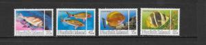 FISH - NORFOLK ISLAND #339-342  MNH