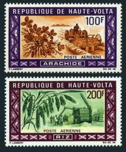 Burkina Faso C73-C74,MNH.Michel 278-279. Agriculture 1969.Peanuts,Rice.