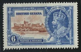 Jamaica SG 302 Mint Light hinged Silver Jubilee   SC# 224    see details