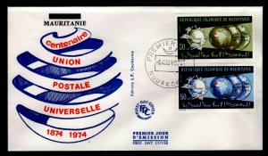 Mauritania - Sc #316 & 317  - 1974 UPU Centenary - Unaddressed First Day Cover